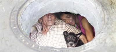 Couple Living Inside A Sewer For 22 years, To Escape From Drugs