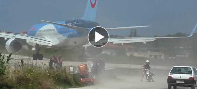 Watch Jet blast and low Landings at Airport